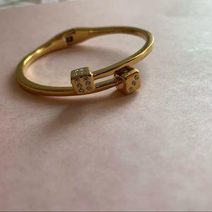 kate spade Jewelry - Kate Spade gold dice bangle bracelet